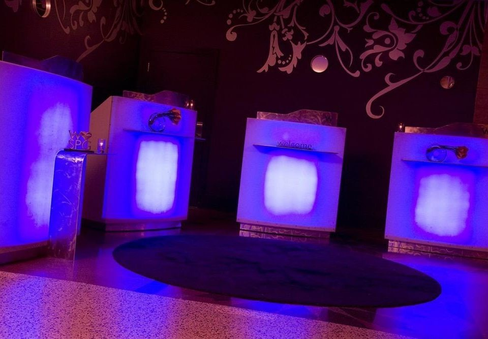 color blue purple light display device lighting stage shape neon