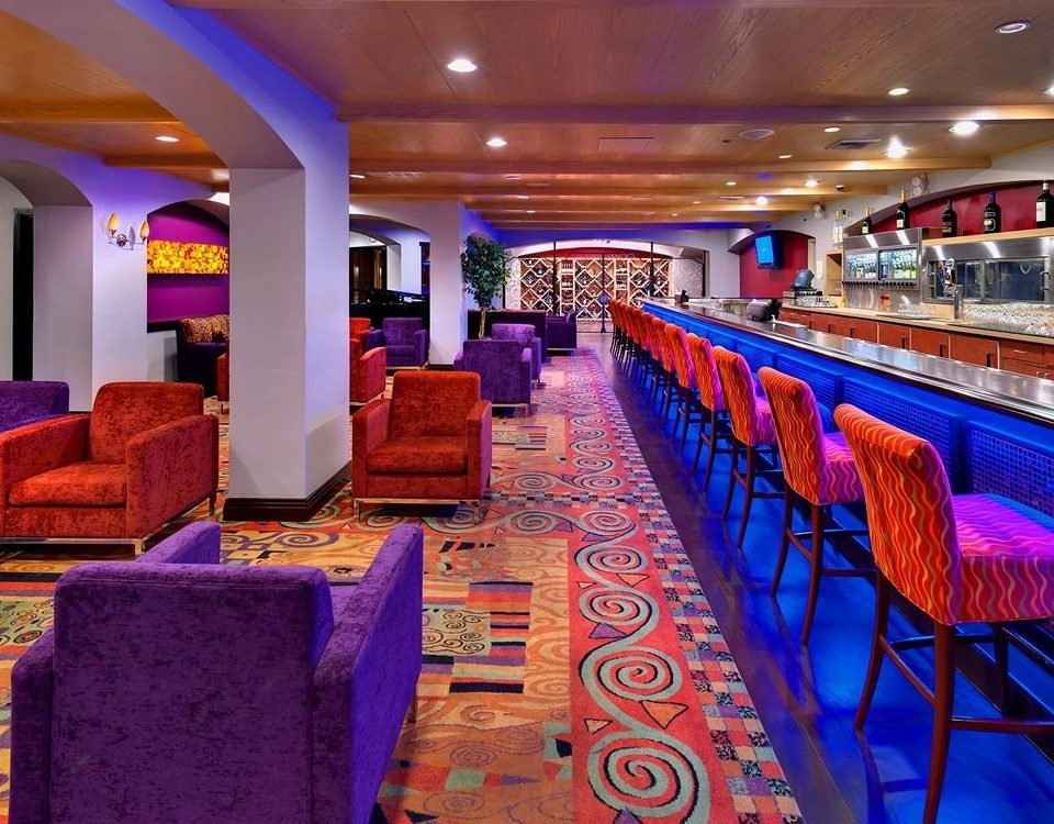 function hall blue restaurant colorful colored