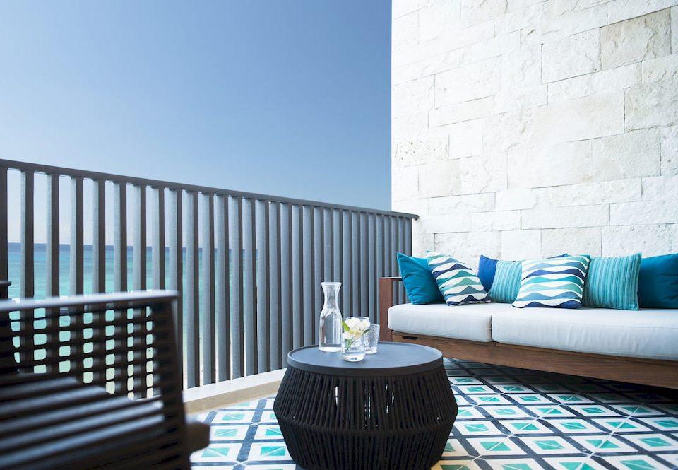 blue property living room condominium home striped