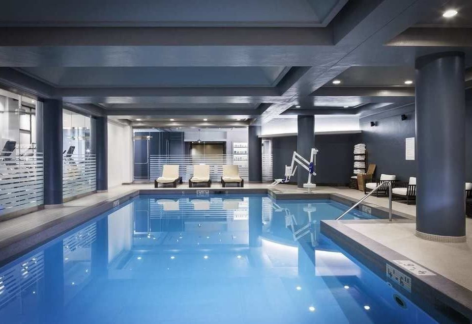 swimming pool property leisure centre lighting condominium blue