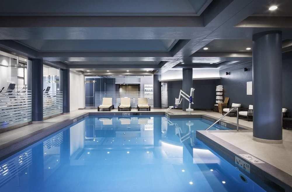 swimming pool property leisure centre lighting condominium blue