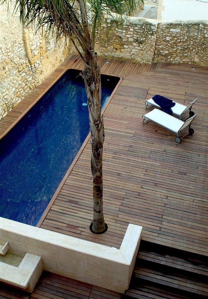 blue house swimming pool roof home flooring wooden outdoor structure
