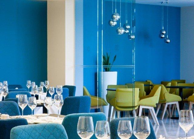 blue restaurant lighting function hall