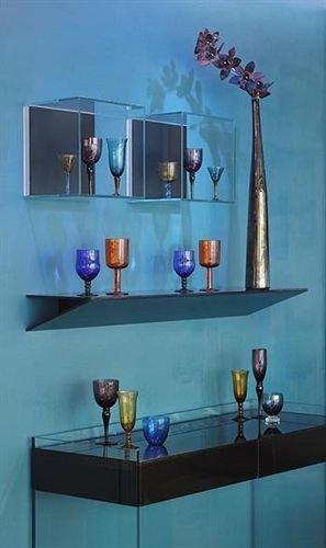 blue shelf modern art lighting glass painting