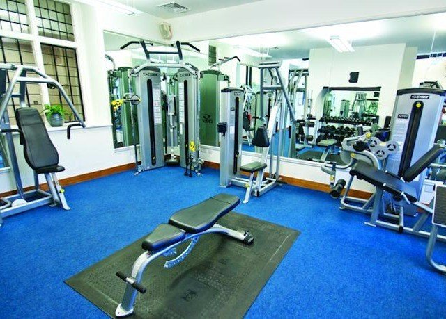 structure gym sport venue blue leisure leisure centre office muscle physical fitness