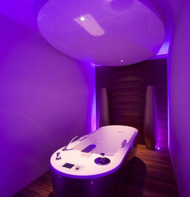 swimming pool blue purple light toilet lighting shape jacuzzi