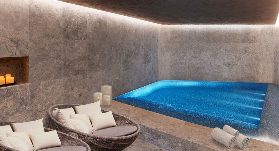 swimming pool property blue jacuzzi stone