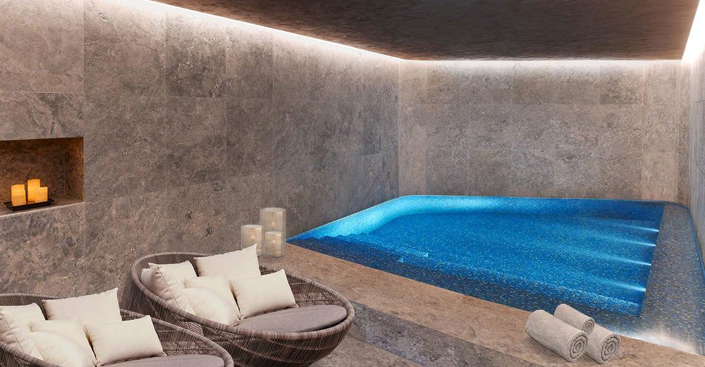 swimming pool property blue jacuzzi stone