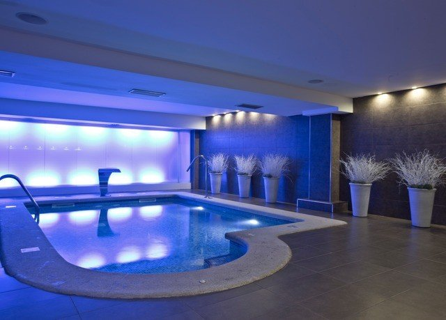 swimming pool leisure centre lighting blue