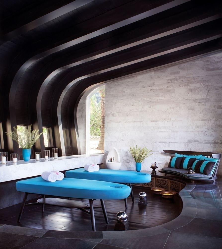 swimming pool living room lighting blue stone