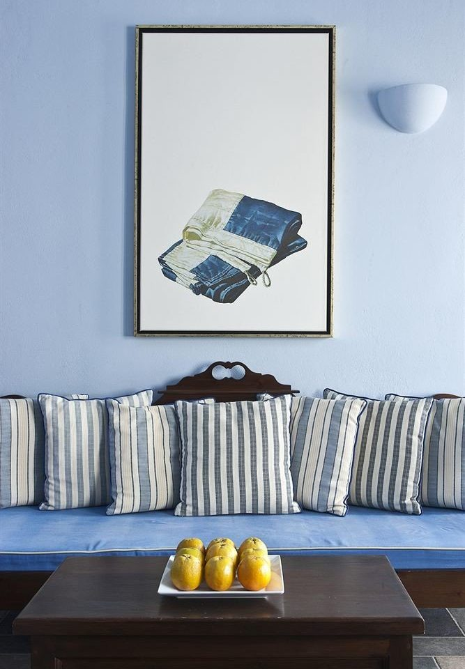 blue living room sofa seat