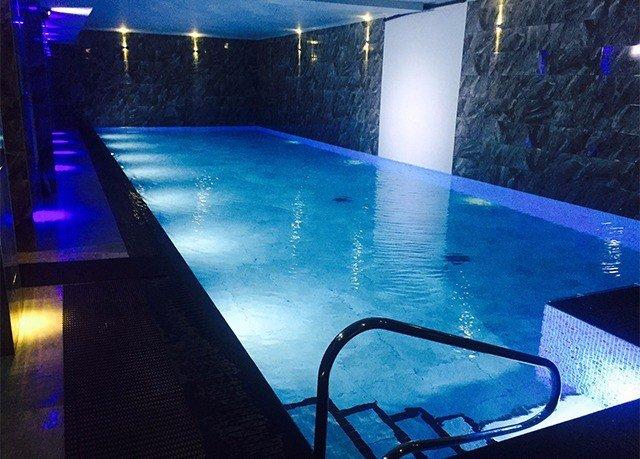 swimming pool blue nightclub music venue night