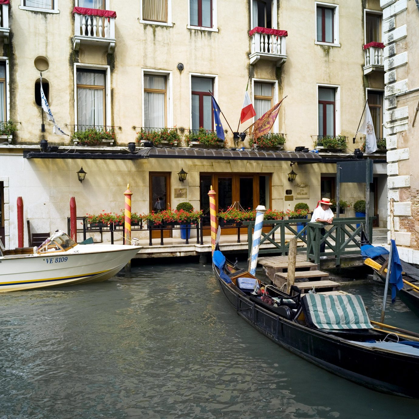 City Classic Elegant Exterior Historic Hotels Italy Luxury Travel Romance Romantic Venice Waterfront building Boat water vehicle Canal Town waterway gondola watercraft travel