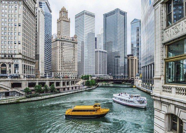 Building Water Landmark City Waterway Vehicle C Cityscape Boat Downtown Yellow Skyser Inium Dock Metropolis Tower