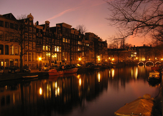 water sky River Boat night evening City Sunset dusk morning waterway Canal cityscape dawn sunrise Lake