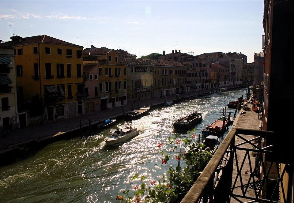 sky water Canal Town River waterway vehicle Boat cityscape channel evening Sea City travel