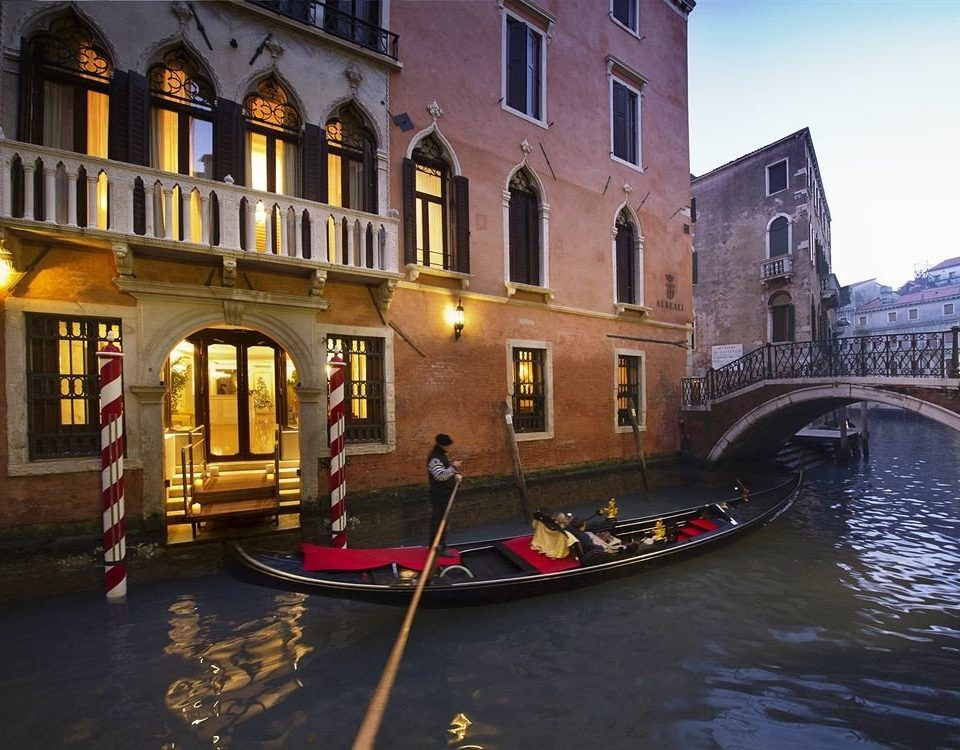 water gondola Boat Canal waterway vehicle evening