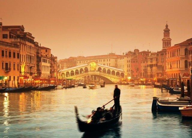 water scene Boat Canal gondola vehicle waterway River evening cityscape channel Harbor dusk Sunset