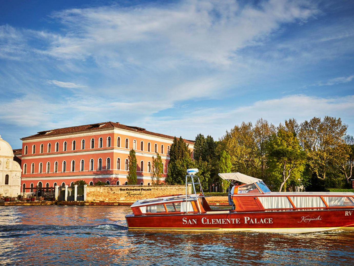 Hotels Italy Luxury Travel Venice sky water Boat vehicle River waterway Canal Sea evening boating traveling