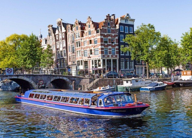water sky Boat Canal motor ship vehicle River waterway channel watercraft boating floating traveling