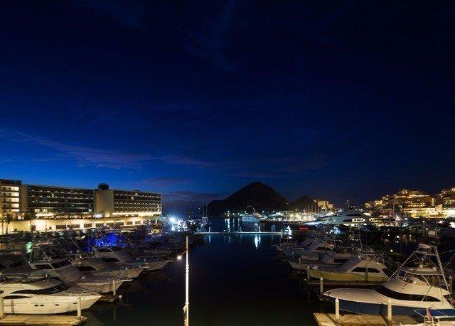 sky water Harbor night Boat scene City cityscape horizon evening dusk skyline marina panorama docked lined
