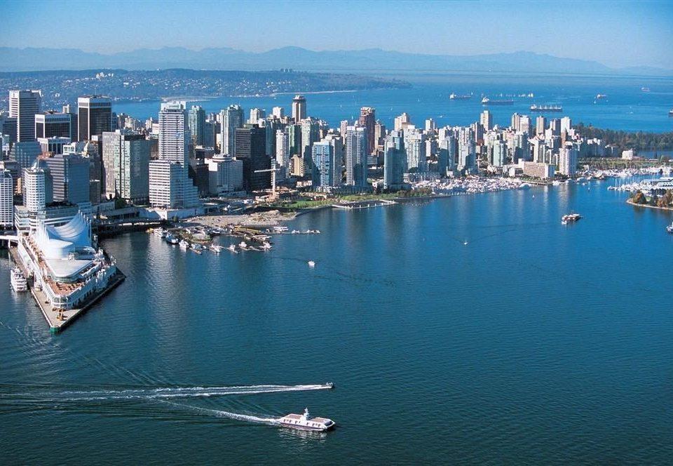water sky scene marina Harbor Boat City Sea dock horizon skyline vehicle cityscape port skyscraper aerial photography