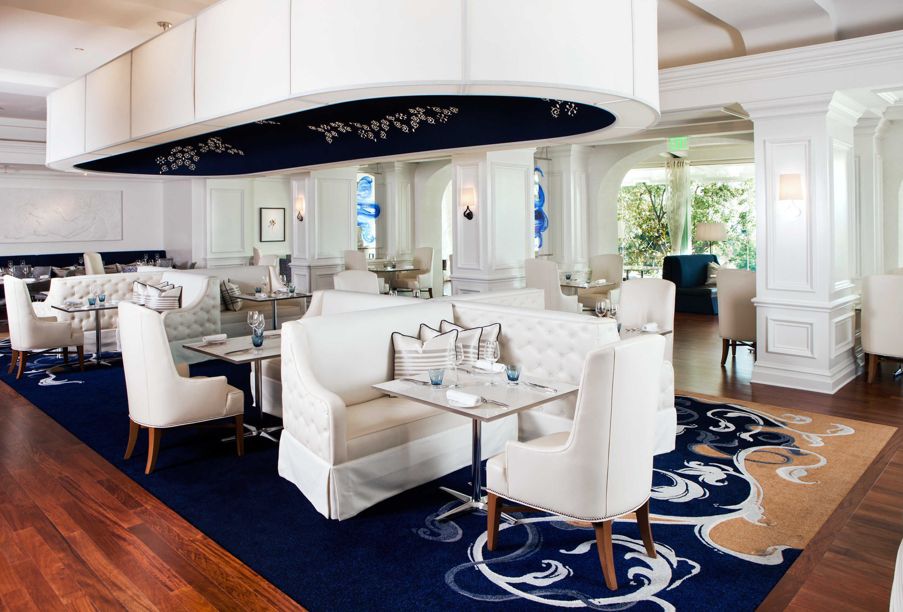Classic Dining Drink Eat Elegant Luxury property living room Boat home yacht passenger ship flooring Suite appliance Island