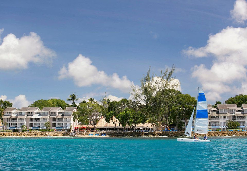 sky water Boat Sea caribbean blue Coast vehicle marina Harbor Island Resort Lagoon day