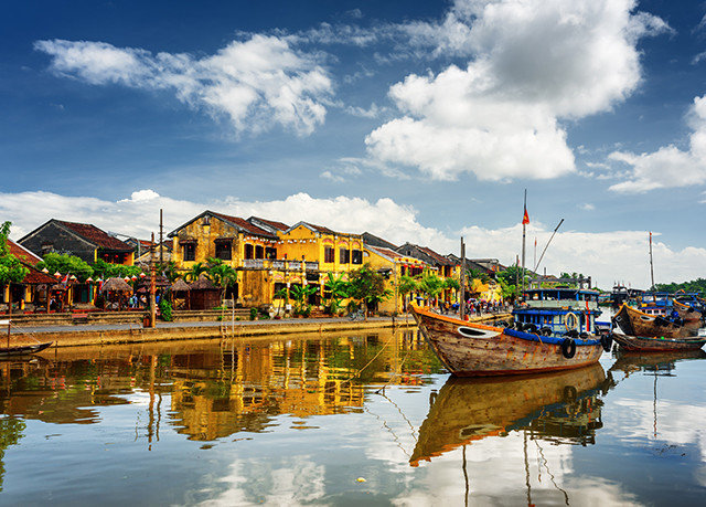 sky water scene Harbor Boat Sea vehicle River boating Lake Coast waterway travel day