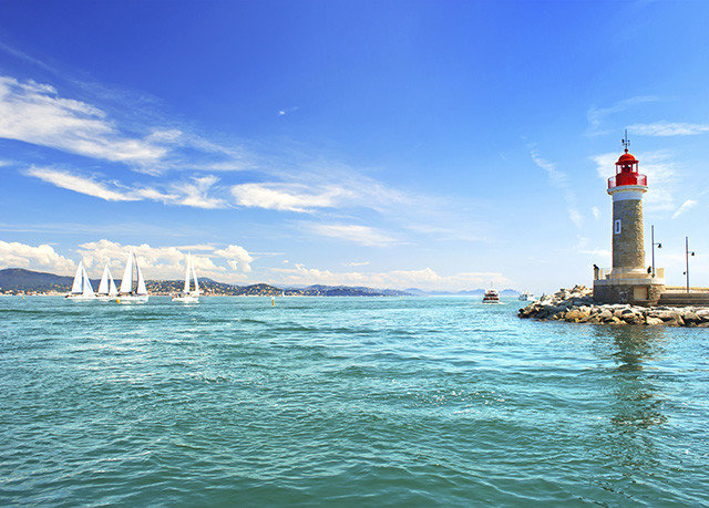sky water tower Sea Boat lighthouse horizon Ocean Coast vehicle Harbor cape wave day shore