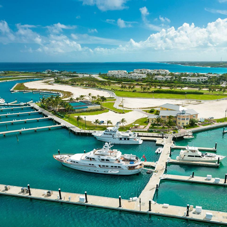 sky water marina Boat dock Sea Coast port Ocean Harbor channel vehicle infrastructure caribbean