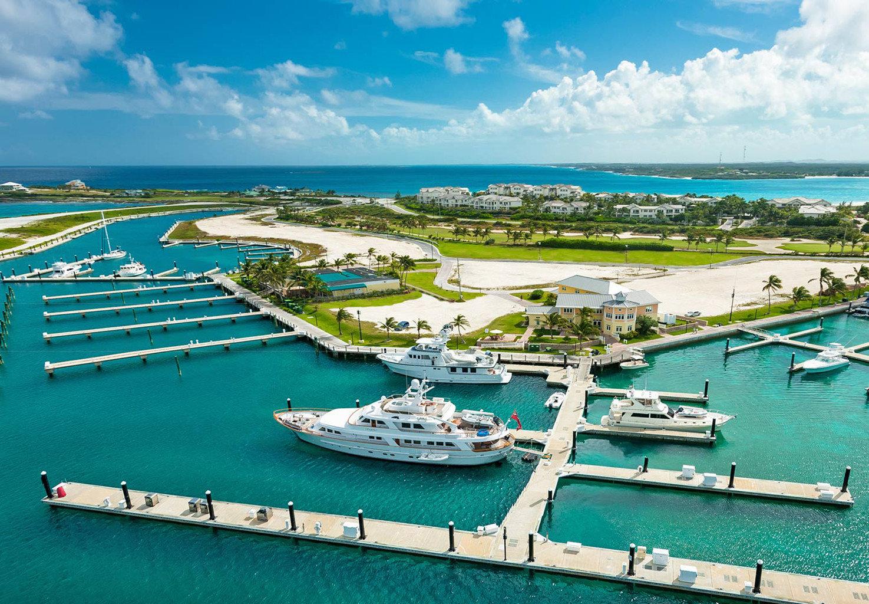 sky water marina Boat dock Sea Coast port Ocean Harbor channel vehicle infrastructure caribbean