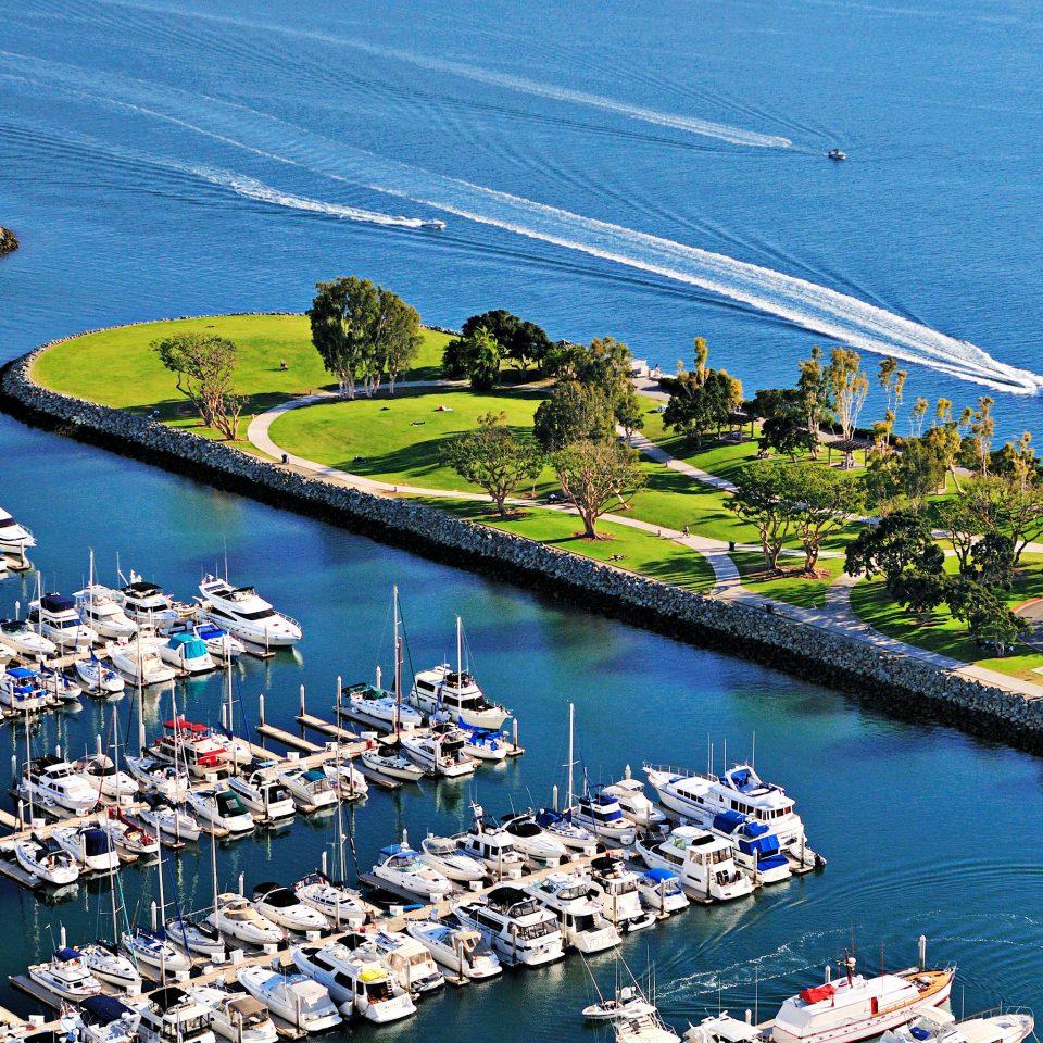 Boat Ocean Waterfront water marina Sea aerial photography Coast dock vehicle Harbor port boating cape waterway
