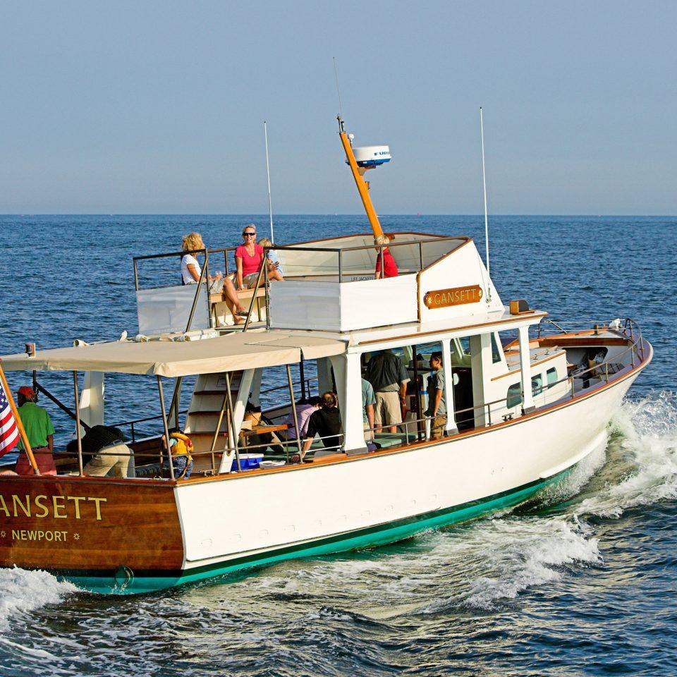 water sky Boat vehicle Sea Ocean ship fishing vessel watercraft Coast fishing trawler boating traveling passenger ship pulled day