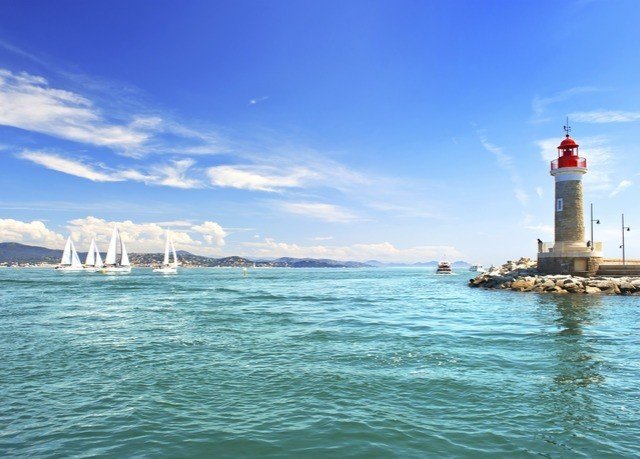 sky water tower Boat Sea lighthouse horizon Ocean Coast cape vehicle shore day