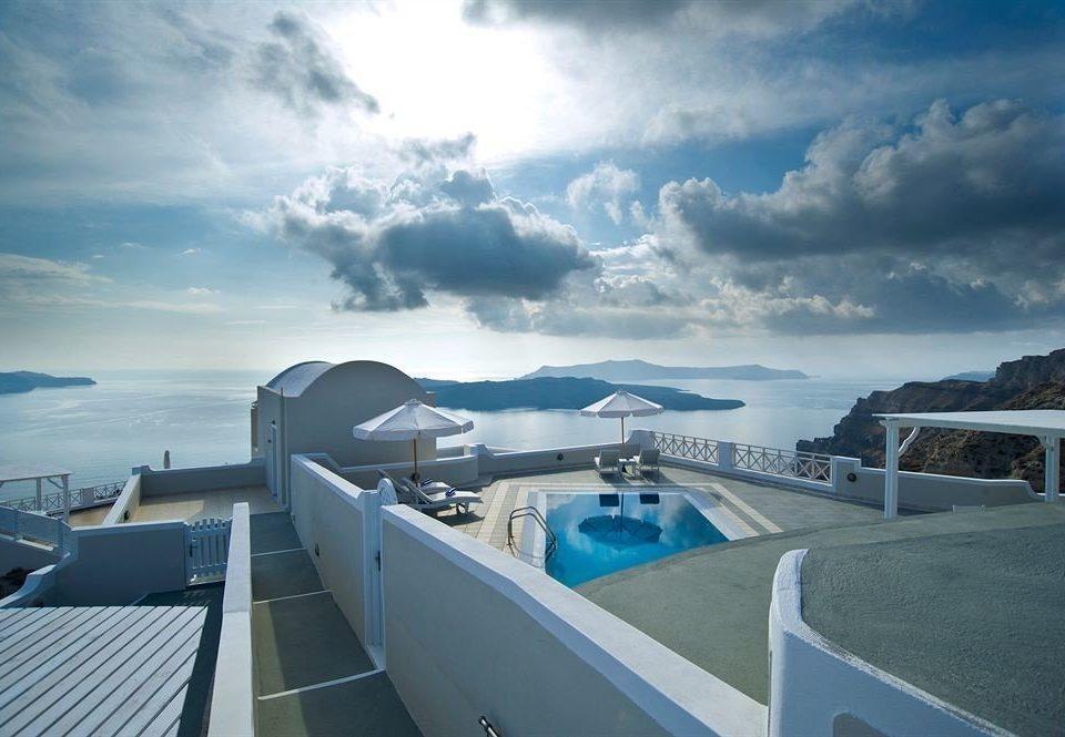 sky vehicle passenger ship Boat Sea ship Ocean yacht luxury yacht cruise ship cloud watercraft marina dock clouds Deck day