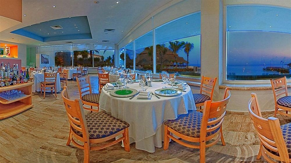 Modern Resort Waterfront chair restaurant Boat passenger ship yacht function hall Dining