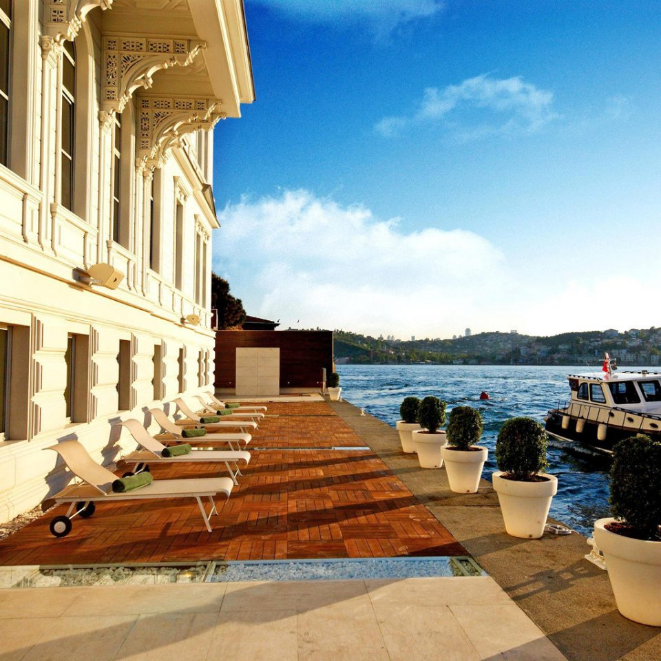 Boat Exterior Lounge Terrace Waterfront sky walkway palace Sea Resort travel stone