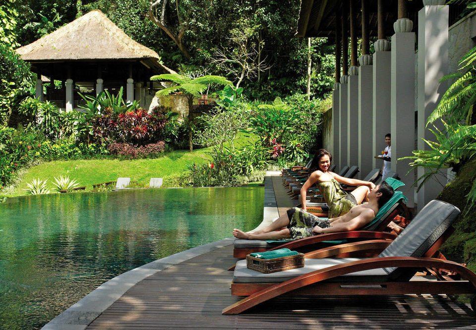 tree leisure wooden Jungle Boat Resort backyard swimming pool vehicle Garden pond