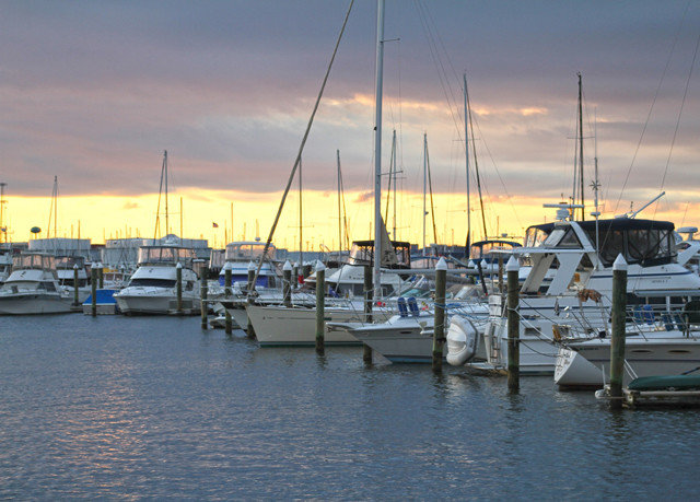 sky Boat water marina scene Harbor dock Sea vehicle sailboat docked channel port mast