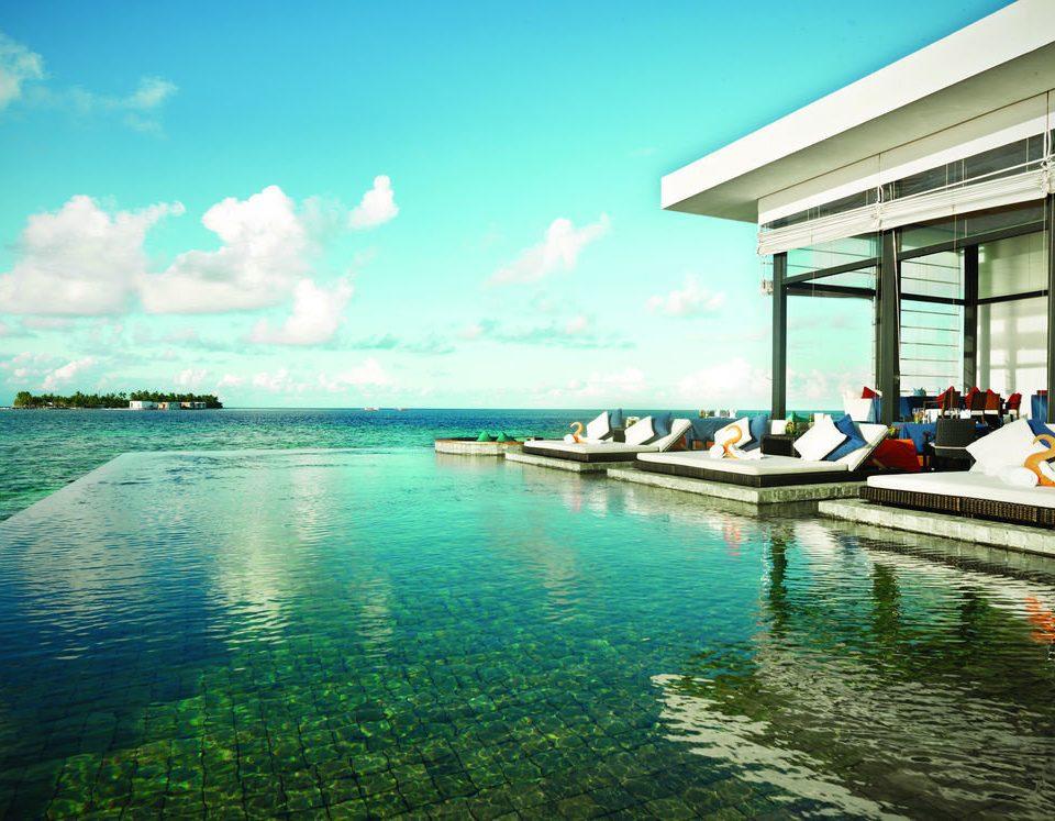 water sky Boat leisure Sea swimming pool Ocean Resort caribbean Lagoon day