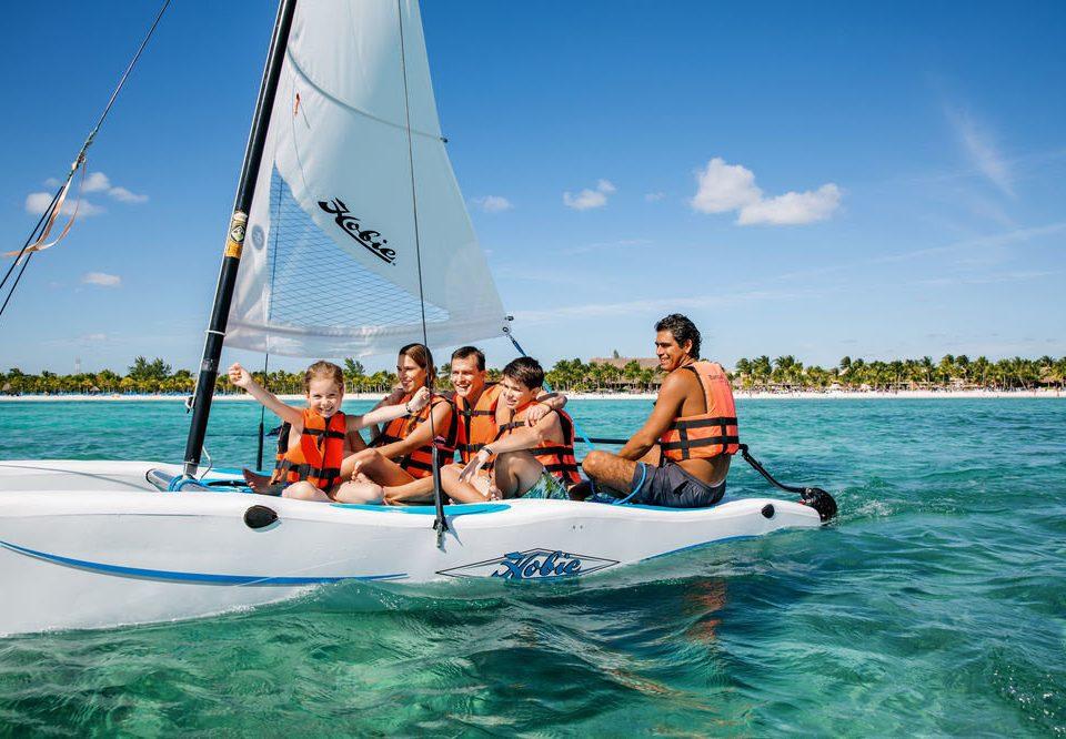 sky water watercraft sailing Boat dinghy sailing transport vehicle sailboat sail Ocean boating sports Sea Lagoon catamaran dinghy sailing vessel