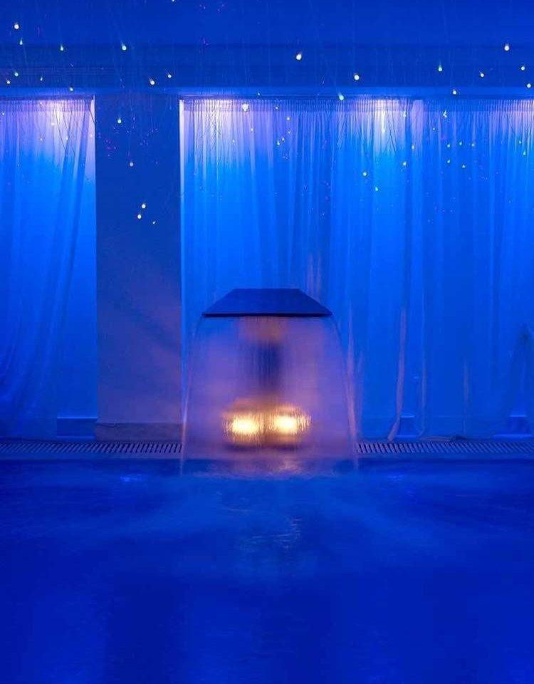 water blue Boat light stage night lighting Lake underwater bright