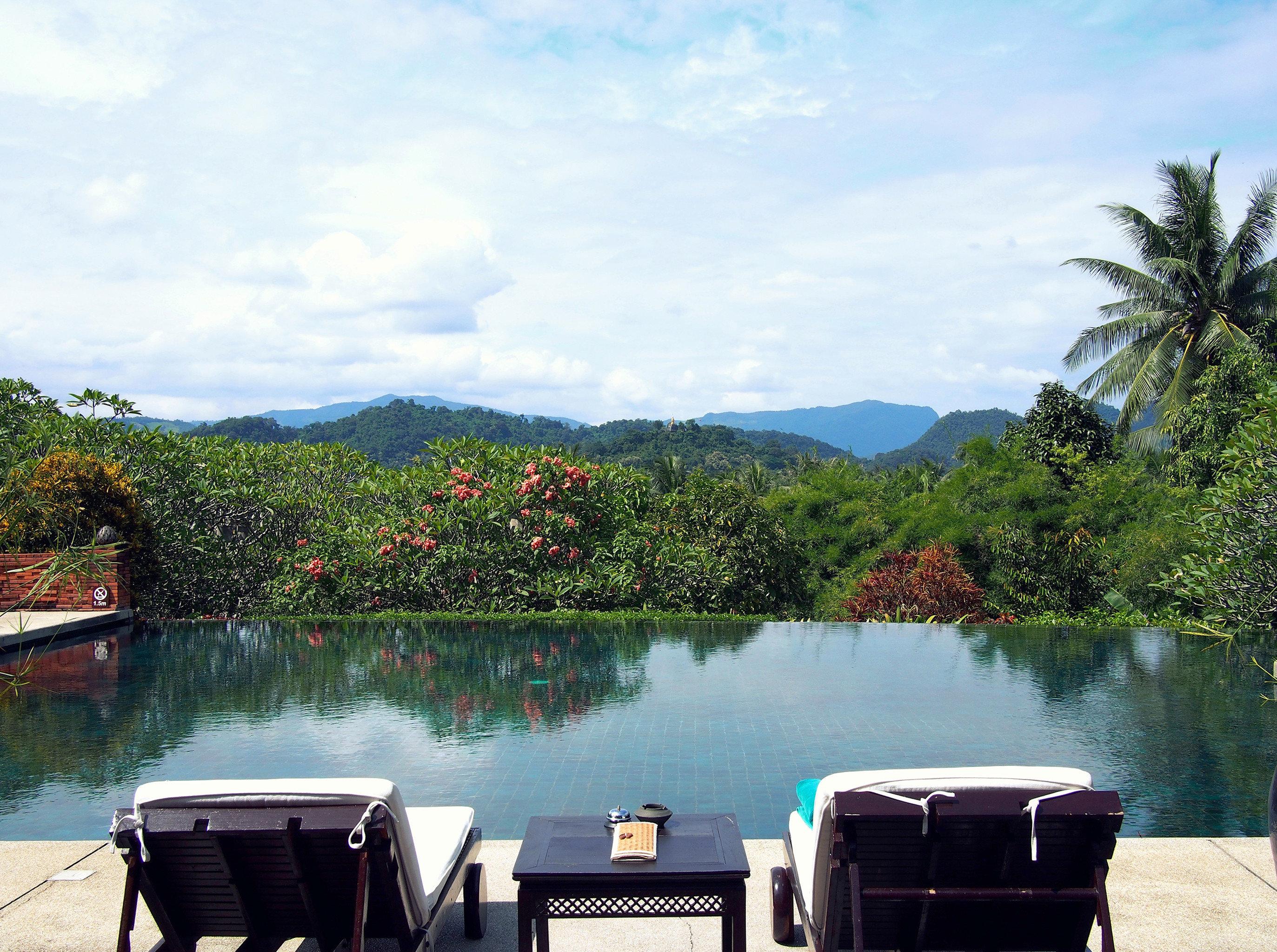Luxury Romantic Waterfront tree sky water property Lake swimming pool overlooking Boat
