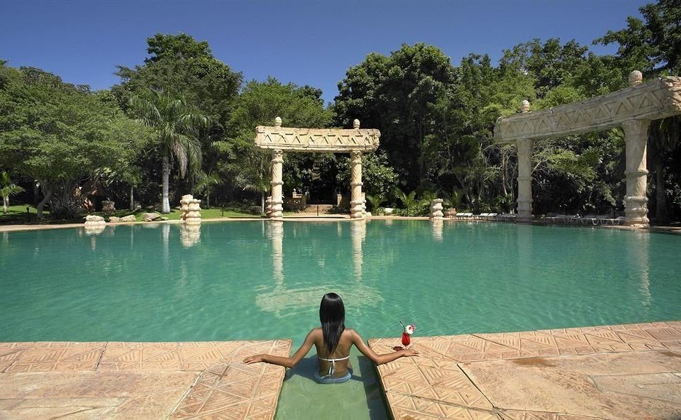 tree water leisure swimming pool Resort backyard Villa Lake pond Boat