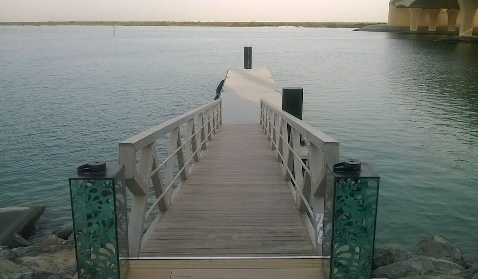 water sky Boat scene dock channel Lake bridge reservoir waterway Sea breakwater overlooking