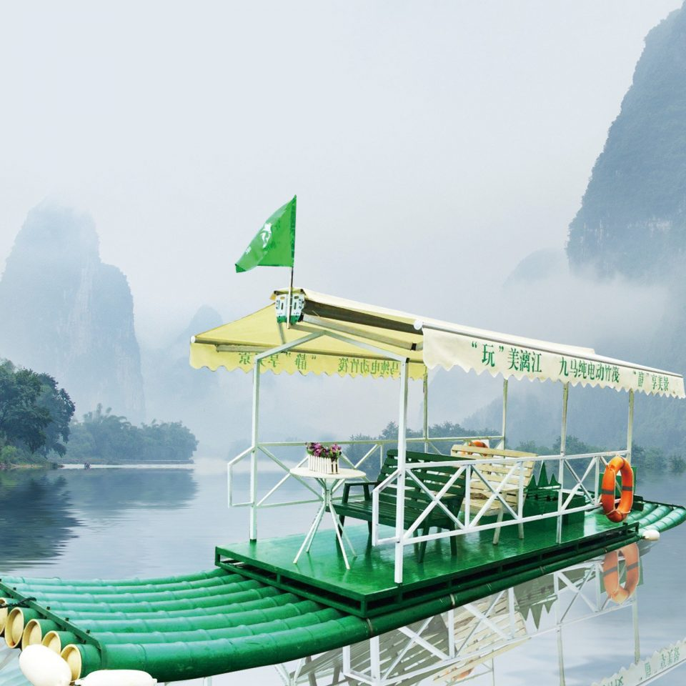 water Boat vehicle green mountain watercraft Sea ship Lake