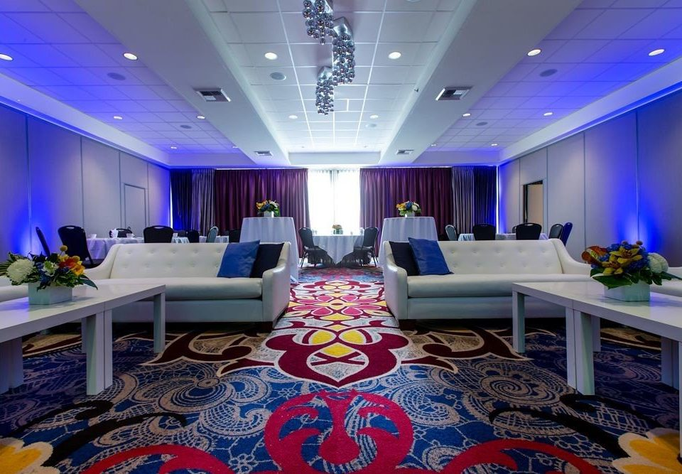 conference hall function hall Lobby recreation room Boat yacht blue convention center vehicle living room ballroom