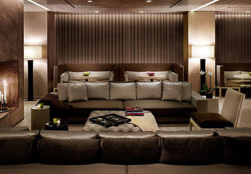 sofa Boat passenger ship living room vehicle yacht Lobby Suite luxury yacht ship leather