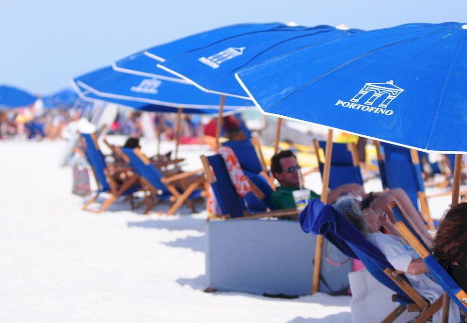 accessory umbrella atmosphere of earth Boat Nature wind blue shore